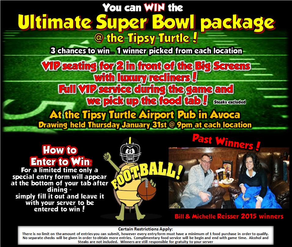 superbowl flyer 2018 tipsy turtle pub sports bar catering nepa. Black Bedroom Furniture Sets. Home Design Ideas